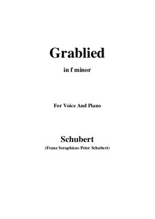 Grablied, D.218: F minor by Franz Schubert