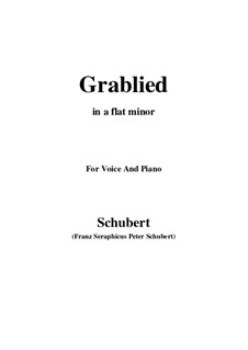 Grablied, D.218: A flat minor by Franz Schubert