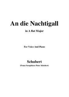 An die Nachtigall, D.497 Op.98 No.1: Für Stimme und Klavier (A Flat Major) by Franz Schubert