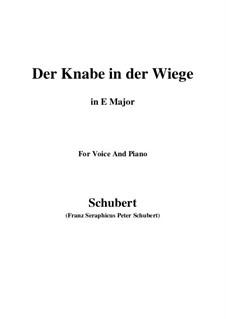 Der Knabe in der Wiege, D.579: E Major by Franz Schubert