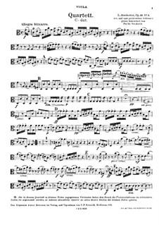 Streichquartette, Op.32: Quartett Nr.4 in C-Dur – Bratschenstimme, G 204 by Luigi Boccherini