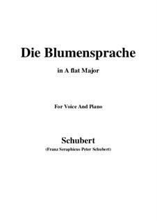 Die Blumensprache, D.519: A flat Major by Franz Schubert