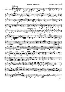 La dame blanche (Die Weiße Frau): Ouvertüre, für Streichquartett – Violinstimme II by Adrien Boieldieu
