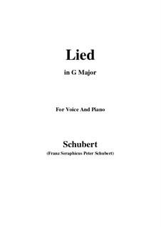 Lied für Stimme und Klavier, D.284: G Major by Franz Schubert