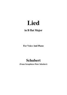 Lied für Stimme und Klavier, D.284: B flat Major by Franz Schubert
