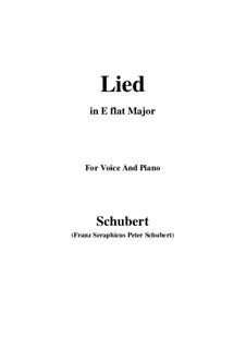 Lied für Stimme und Klavier, D.284: E flat Major by Franz Schubert