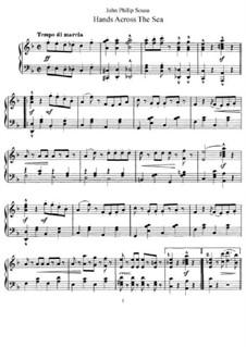 Hands Across the Sea: Für Klavier by John Philip Sousa