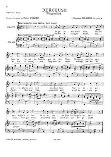 Nr.4 Wiegenlied: Für Sopran (oder Tenor) und Klavier by Johannes Brahms