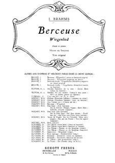 Nr.4 Wiegenlied: Für Mezzosopran (oder Bariton) und Klavier by Johannes Brahms