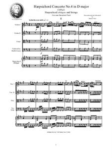 9 Concertos for Harpsicord obbligato and Strings: Concerto No.4 in D major, CSPla21 by Giovanni Benedetto Platti