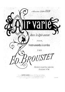 Air varié: Vollpartitur by Édouard Broustet