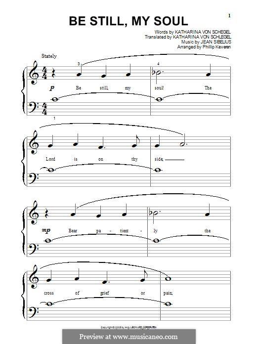Be Still My Soul: Für Klavier by Jean Sibelius