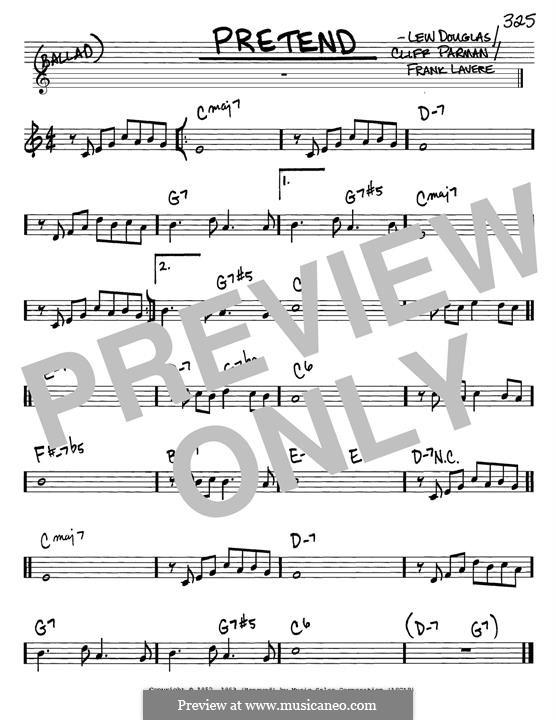Pretend (Brenda Lee): Für Gitarre by Cliff Parman, Frank LaVere, Lew Douglas