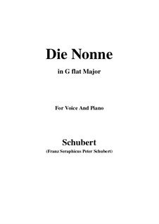 Die Nonne, D.212: G flat Major by Franz Schubert