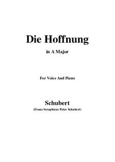 Hoffnung, D.637 Op.87 No.2: A-Dur by Franz Schubert