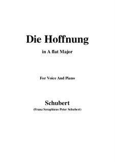 Hoffnung, D.637 Op.87 No.2: A flat Major by Franz Schubert