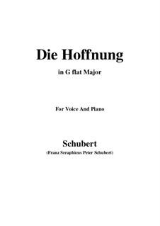 Hoffnung, D.637 Op.87 No.2: G flat Major by Franz Schubert