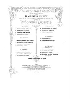 Zwanzig Stücke für Orgel: Nr.1-4 by Alexis Chauvet