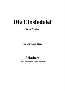 Die Einsiedelei, D.393: A-Dur by Franz Schubert