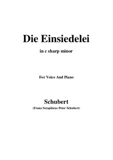Die Einsiedelei, D.563: C sharp minor by Franz Schubert