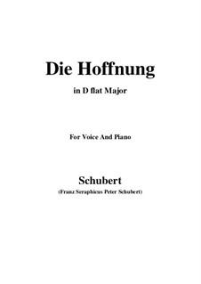 Hoffnung, D.637 Op.87 No.2: D flat Major by Franz Schubert