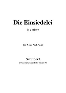 Die Einsiedelei, D.563: C minor by Franz Schubert