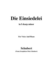 Die Einsiedelei, D.563: F sharp minor by Franz Schubert
