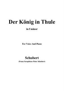 Der König in Thule, D.367 Op.5 No.5: Für Stimme und Klavier (F minor) by Franz Schubert