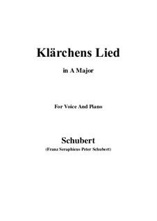 Die Liebe, D.210: Für Stimme und Klavier (A Major) by Franz Schubert