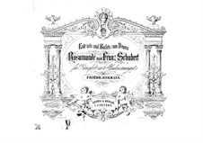 Fragmente: Entr'actes und Ballettmusik, für Klavier, vierhändig by Franz Schubert