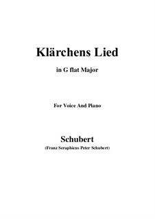 Die Liebe, D.210: For voice and piano (G flat Major) by Franz Schubert