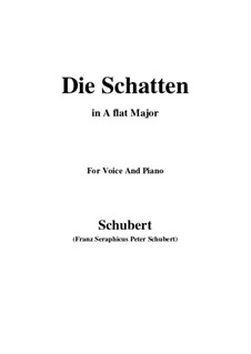 Die Schatten, D.50: A flat Major by Franz Schubert