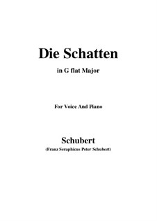 Die Schatten, D.50: G flat Major by Franz Schubert