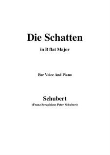 Die Schatten, D.50: B flat Major by Franz Schubert