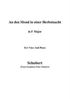 An den Mond in einer Herbstnacht, D.614: F-Dur by Franz Schubert