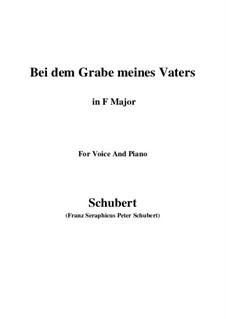 Bei dem Grame Meines Vaters, D.496: F-Dur by Franz Schubert