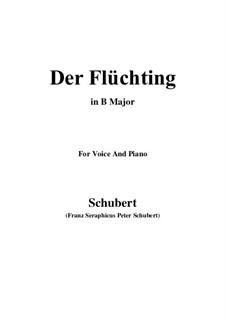 Der Flüchtling, D.402: B Major by Franz Schubert
