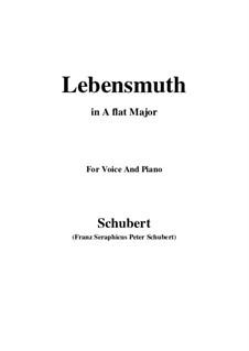 Lebensmuth, D.883: A flat Major by Franz Schubert