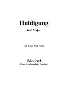 Huldigung, D.240: E Major by Franz Schubert