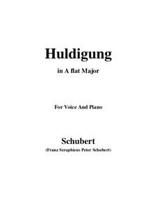 Huldigung, D.240: A flat Major by Franz Schubert