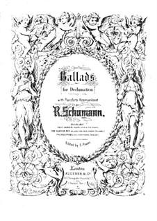 Balladen für Deklamation mit Klavier, Op.106, 122: Vollpartitur by Robert Schumann