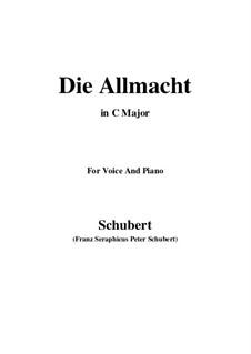 Die Allmacht, D.852 Op.79 No.2: Für Stimme und Klavier (C Major) by Franz Schubert