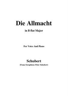 Die Allmacht, D.852 Op.79 No.2: Für Stimme und Klavier (B Flat Major) by Franz Schubert
