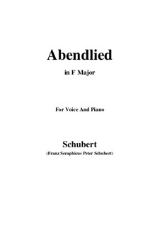 Abendlied, D.276: F-Dur by Franz Schubert