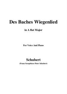 Nr.20 Des Baches Wiegenlied: Für Stimme und Klavier (A Flat Major) by Franz Schubert