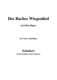 Nr.20 Des Baches Wiegenlied: Für Stimme und Klavier (E Flat Major) by Franz Schubert
