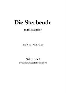 Die Sterbende, D.186: B flat Major by Franz Schubert