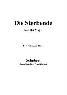 Die Sterbende, D.186: G flat Major by Franz Schubert