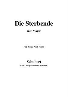 Die Sterbende, D.186: E Major by Franz Schubert