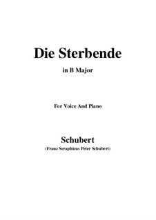 Die Sterbende, D.186: B Major by Franz Schubert